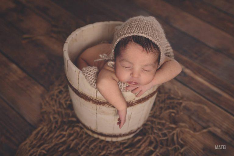 fotografo de recien newborn nacido en estudio propio lugo
