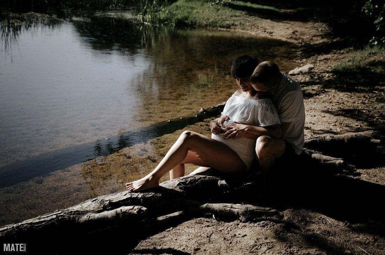 Sesion exterior embarazo mate estudio